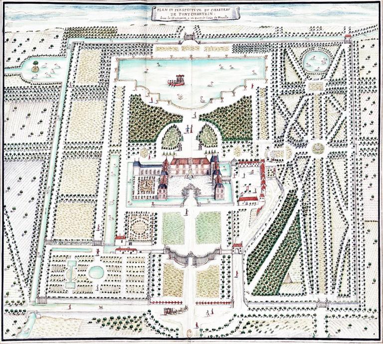 Sterenn Architecture - Plan_et_perspective_du_chasteau_[...]Boudan_Louis_btv1b69016111.jpg